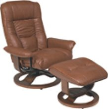R-084 Mario Chestnut Leather Recliner