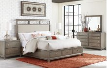 Apex Upholstered Platform Bed w/Storage, Queen 5/0