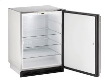 "1000 Series 24"" Outdoor Refrigerator With Stainless Solid (lock) Finish and Field Reversible Door Swing"