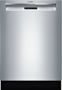 """300 Series 24"""" Recessed Handle Dishwasher SHE863WF5N Stainless steel"""