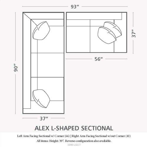 BASSETT 3989-66-FC144SS Alex L-Shaped Sectional Sofa