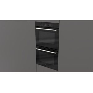 """Fulgor Milano30"""" Touch Control Double Oven - black Glass"""