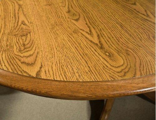 Classic Oak Solid Oak Drop Leaf Pedestal Top