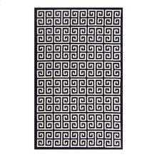 Freydis Greek Key 5x8 Area Rug in Black and White