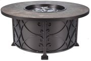 """Viento 54"""" Rd. Chat Height Fire Pit"""