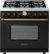 Additional Range DECO 36'' Classic Black matte, Bronze 6 gas, gas oven