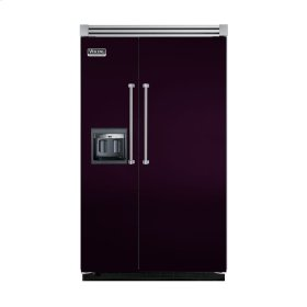 "Plum 48"" Side-by-Side Refrigerator/Freezer with Dispenser - VISB (Integrated Installation)"