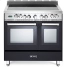 "Matte Black 36"" Electric Double Oven Range Product Image"