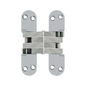 "4 5/8"" x 1 1/8"", Concealed Hinge - Brushed Chrome"