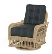 Mainland Wicker Swivel Chair W/ Buttons Back