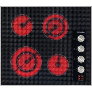 MieleKM 5621 240V Electric cooktop with four cooking zones and direct rotary dial controls for maximum convenience.