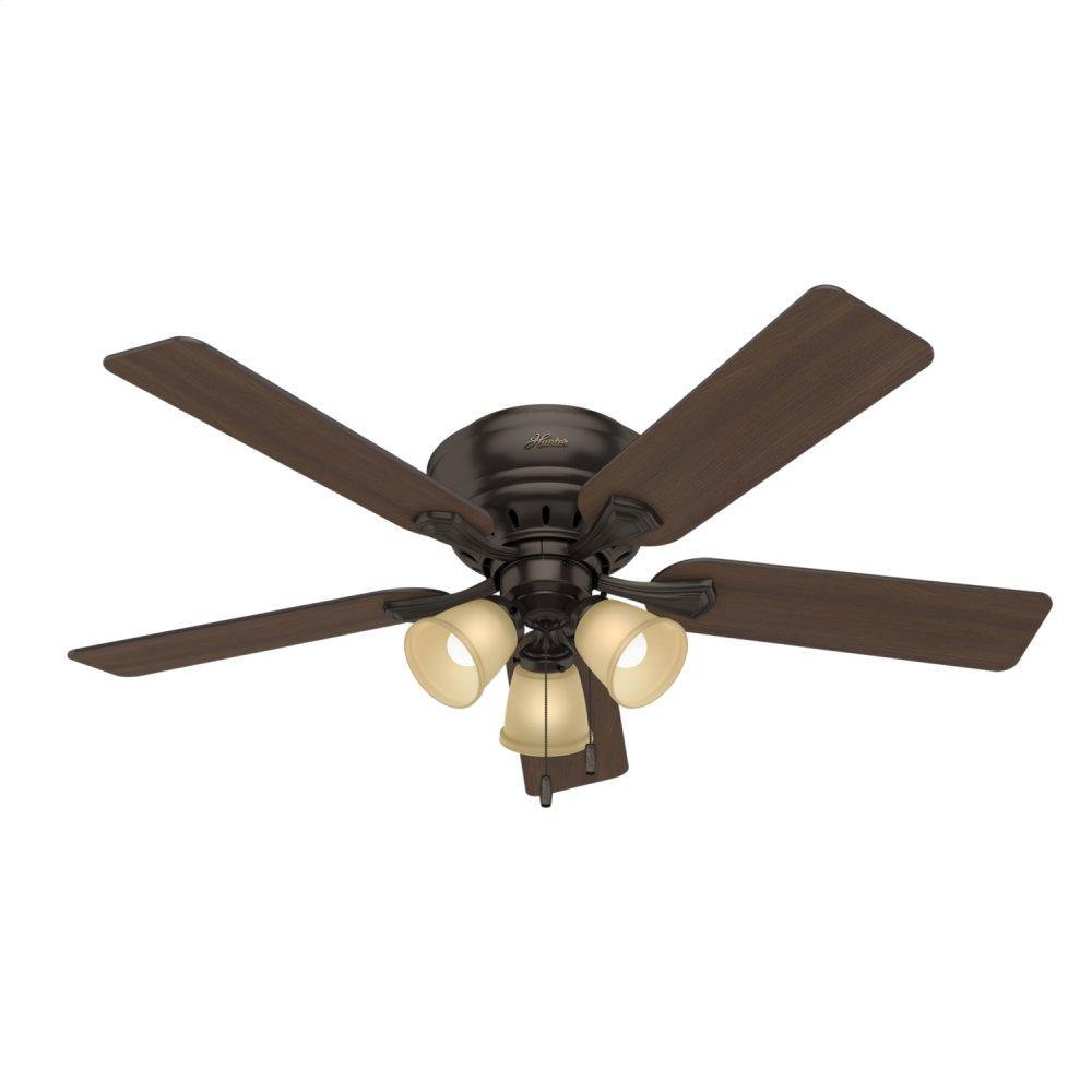 Reinert Low Profile with 3 Lights 52 inch Ceiling Fan  PREMIER BRONZE