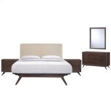 Tracy 5 Piece Queen Bedroom Set in Cappuccino Beige