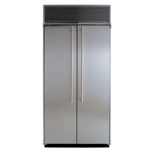 "36"" Refrigerator Freezer - 36"" Marvel Side-by-Side Combination Refrigerator Freezer - White Interior with Stainless Steel Doors"