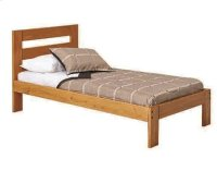 Heartland Promo Bed with options: Honey Pine, Full, 2 Drawer Storage Product Image