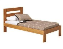 Heartland Promo Bed with options: Honey Pine, Full, 2 Drawer Storage