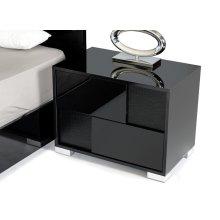 Modrest Grace Italian Modern Black Nightstand