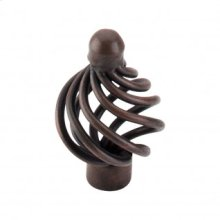 Flower Twist Knob 1 1/4 Inch - Patina Rouge