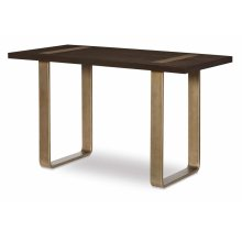 Leg Writing Desk w/ Brass Finished Wood Accents