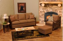 Upholstered Sofa Hickory Log, Upgrade Leather