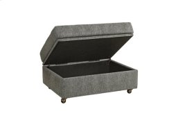 Storage Ottoman - Salt \u0026 Pepper Chenille Finish