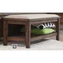 Franco Burnished Oak Upholstered Bench