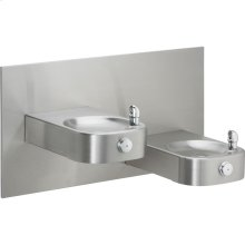 Elkay Slimline Soft Sides Heavy Duty Bi-Level Fountain, Non-Filtered Non-Refrigerated Stainless