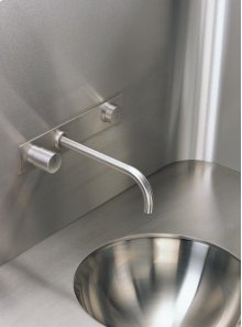 Build-in basin mixer with on-off sensor for 'hands free' operation - Grey