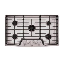 """LG Studio - 36"""" Gas Cooktop with the Professional Look of Stainless Steel"""