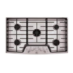 """LG Appliances STUDIOLg Studio - 36"""" Gas Cooktop With The Professional Look Of Stainless Steel"""