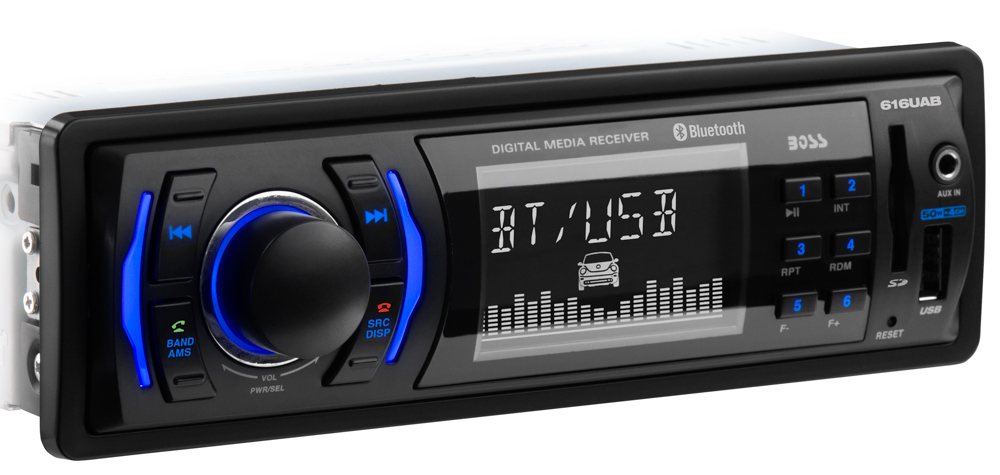 Single-DIN, MECH-LESS Multimedia Player (no CD/DVD) Bluetooth
