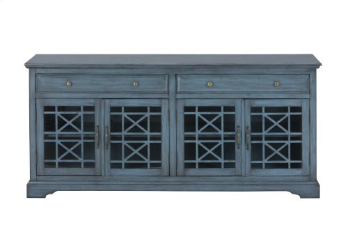 """Craftsman Antique Blue 70"""" Media Unit"""