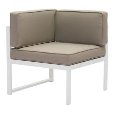 Golden Beach Corner White & Taupe Product Image