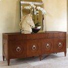 French Key Everything Cabinet-Dark Oak Product Image