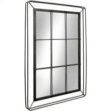 Metal 3D Window Pane Mirror  47in X 32in X 2in  Wall Mirror
