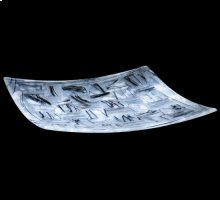 "14""Sq Metro Fusion Branches Glass Plate"