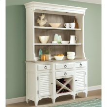 Myra - Server Hutch - Natural/paperwhite Finish