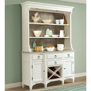 RiversideMyra - Server Hutch - Natural/paperwhite Finish