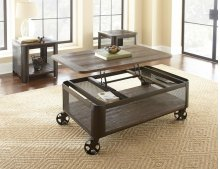 """Barrow Lift Top Cocktail Table w/ Casters 52"""" x 32"""" x 20"""""""