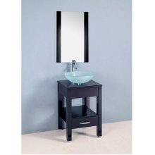 Single 19.5 in. W Black Finish Vanity