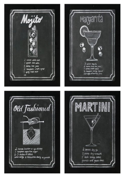 Cocktail Wall Art - Ast 4