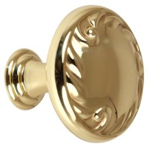Ornate Knob A3650-38 - Polished Brass