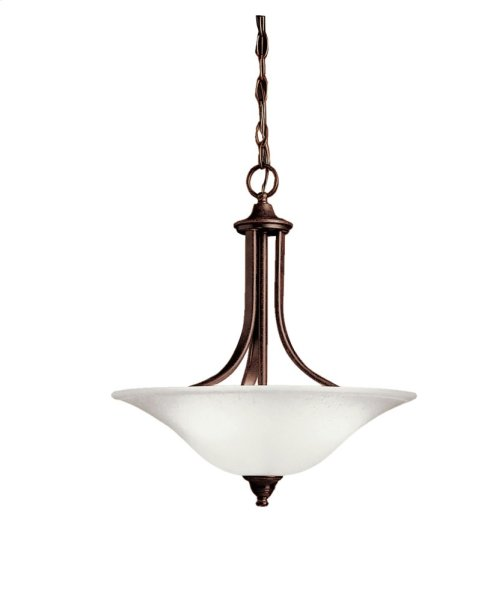 Dover 3 Light Convertible Inverted Pendant Tannery Bronze