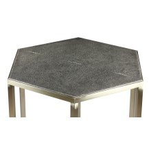 Mallen Leather Side Table