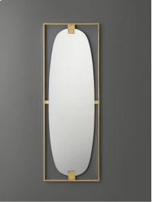 Paolo Floor Mirror, Polished Brass. Clean Mirror.