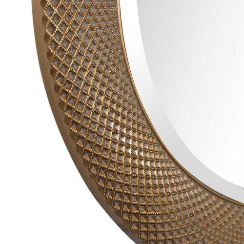 Aziza Gold Round Mirror