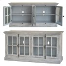 Harrison Light Grey Wash 4 Door Media Console Product Image