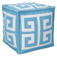 "Outdoor Pillow As555 Turquoise 16"" X 16"" X 16"" Pouf"