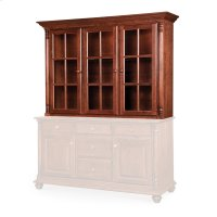 "Savannah Closed Hutch Top, 65 1/4"", Antique Glass Product Image"