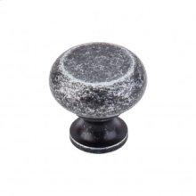 Flat Faced Knob 1 1/4 Inch - Black Iron